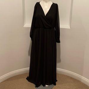 RICARICA Long Sleeve Black Maxi Dress  3x